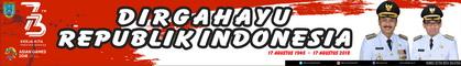 Spanduk Peringatan HUT Ke-73 Kemerdekaan Republik Indonesia Tahun 2018