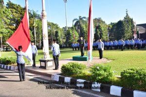 PJ Sekda Adhi Isnanto Pimpin Peringatan HUT ke-73 RI