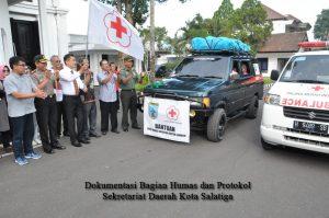 Yuliyanto Lepas Rombongan PMI dan Relawan ke Lombok