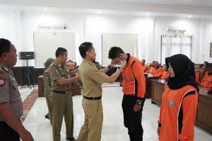 Satpol  PP Salatiga Latih Linmas Kecamatan Sidorejo Tangani Bencana