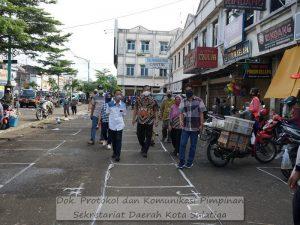Antisipasi Covid-19, Jalan Jend. Sudirman Dimanfaatkan Untuk Pasar Pagi