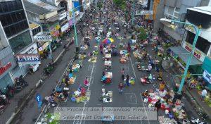 "90% Pedagang Pasar Pagi Salatiga Taati Protokol Kesehatan ""Physical Distancing"""