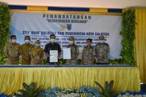 Wali Kota Yuliyanto dan STIE AMA Teken MoU, Kembangkan Potensi Masyarakat